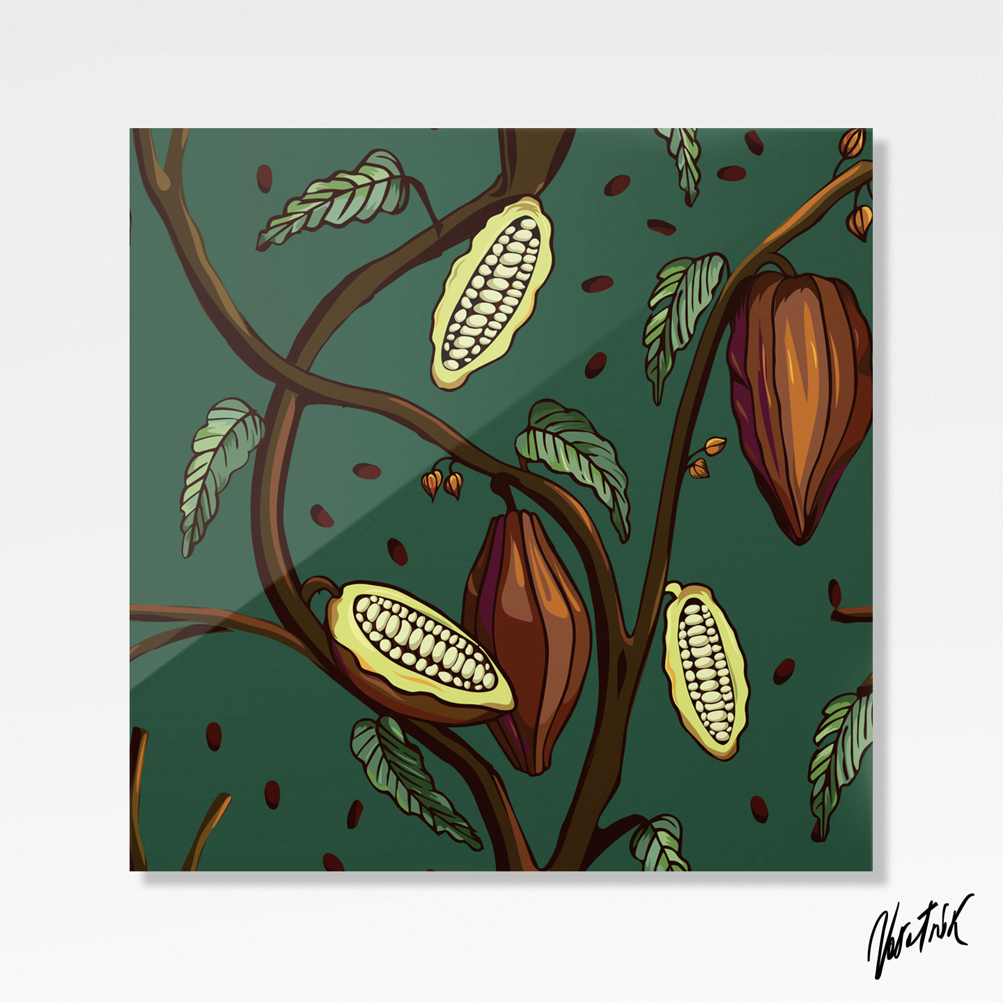 Cocoa Tree Pattern 1